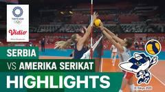 Highlights | Bola Voli Putri | Semifinal - Serbia 0 vs 3 Amerika Serikat | Olimpiade Tokyo 2020