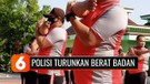 Polisi-Polisi Gendut di Tuban Dipaksa Jalani Olahraga untuk Menurunkan Berat Badan
