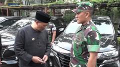 Oded M. Danial melaksanakan penandatanganan berita acara pinjam pakai kendaraan Dinas untuk Polrestabes dan Dandim 0618 BS