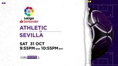 Athletic vs Sevilla - Sabtu, 31 Oktober 2020 | La Liga Santander