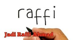 HARUS TONTON, cara menggambar kata RAFFI menjadi Raffi Ahmad yang sedih karena Lamborghini terbakar