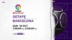 Getafe vs Barcelona - Sunday, 18 October 2020 | La Liga Santander