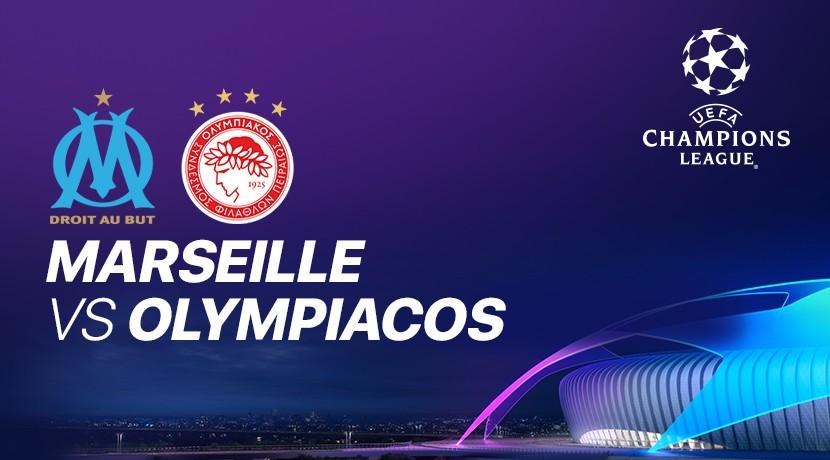 Marseille vs Olympiacos -  Liga Champions UEFA cover