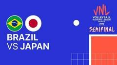 Full Match   Semi Final   VNL WOMEN'S - Brazil vs Japan   Volleyball Nations League 2021