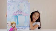 Unboxing Mainan Anak Perempuan FROZEN BIG BEAUTY SET - Meja Riasnya Besar & Bagus Banget