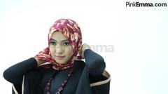 Tutorial Hijab Syar'i Dengan Pashmina Floral