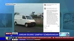 Petugas Dinas LH Bekasi Bersihkan Sampah di Sungai Kalimalang