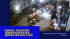 Norak, Bawa Brompton Masuk Cafe