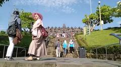 Candi Borobudur edisi liburan
