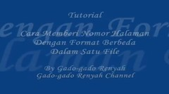 Cara mudah memberi nomor halaman dengan format berbeda dalam satu file
