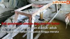 Melihat Produksi Mi Sohun Ayam Jago yang Diduga Tercampur Kecoa di Banyuasin