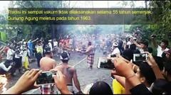 Seru Tradisi Kuno Perang Api Siat Api di Desa Adat Duda Karangasem Bali