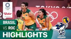 Highlights | Bola Voli Putri | Perempat Final - Brasil 3 vs 1 ROC | Olimpiade Tokyo 2020