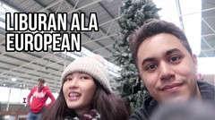 Ice Skating in Holland  European Asian Couple