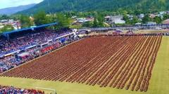 Merinding...Saman masal 12.262 penari memecahkan rekor dunia dari Museum Rekor Indonesia (MURI)