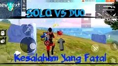 FREE FIRE | Solo vs Duo Gagal booyah Gara Gara Salah Teknis
