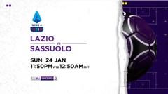 Lazio vs Sassuolo - Minggu, 24 Januari 2021   Serie A