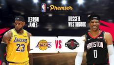 LA Lakers vs Houston Rockets - 19 Jan 2020   08:30 WIB