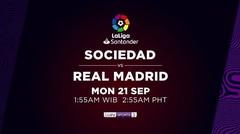 Real Sociedad vs Real Madrid - Senin, 21 September 2020 | La Liga Santander 2020