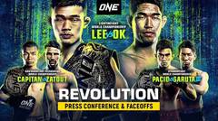 ONE: REVOLUTION Press Conference & Faceoffs