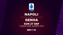 Napoli vs Genoa - Minggu, 27 September 2020 | Serie A 2020