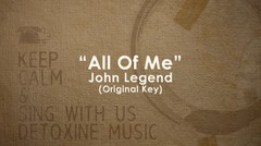 All Of Me (John Legend) piano track - Original Key