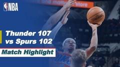 Match Highlight | Oklahoma City Thunder 107 vs 102 San Antonio Spurs | NBA Regular Season 2020/21