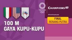 Full Match   Renang Gaya Kupu-kupu 100m Putra Final   Olimpiade Tokyo 2020