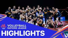 Match Highlight | VNL MEN'S - Italy 3 vs 2 German | Volleyball Nations League 2021
