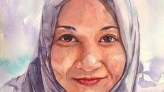 cara cepat melukis wajah dengan cat air