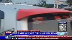 Terekam Video Mobil Boks Buang Sampah ke Sungai Kalimalang