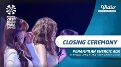 Penampilan Energic Ace of Angles (AOA)  di Closing Ceremony Asian Para Games 2018