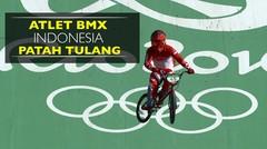Atlet BMX Indonesia Patah Tulang di Olimpiade Rio 2016