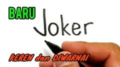 Cara menggambar kata JOKER menjadi joker terbaru. MIRIP BANGET
