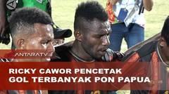 Ricky Cawor pencetak gol terbanyak PON Papua