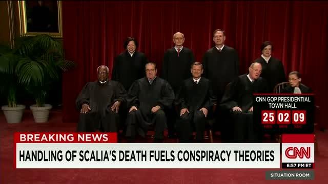 Conspiracy theories surround Scalia'