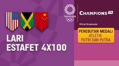 Full Match | Atletik - Perebutan Medali - Lari Estafet 4 x 100m Putra | Olimpiade Tokyo 2020