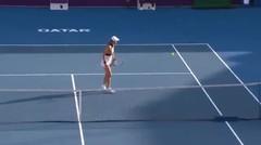 Match Highlights   Victoria Azarenka 2 vs 0 Laura Siegemund   WTA Qatar Total Open 2021