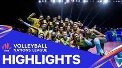Match Highlight | Semi Final | VNL WOMEN'S - Brazil 3 vs 1 Japan | Volleyball Nations League 2021