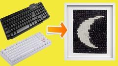 Ide membuat lukisan dari keyboard bekas