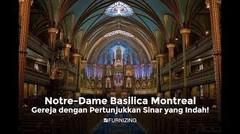 """""""Notre-Dame Basilica Montreal, gereja dengan Pertunjukkan Sinar yang Indah!"""""""