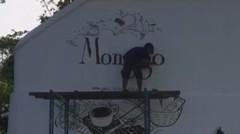video mural di museum coklat Monggo