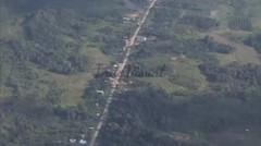 Stock Footage  Aerial Shot  River - KALIMANTAN INDONESIA