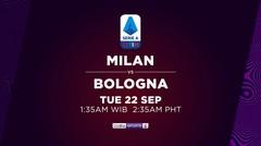 AC Milan vs Bologna - Selasa, 22 September 2020 | Serie A 2020