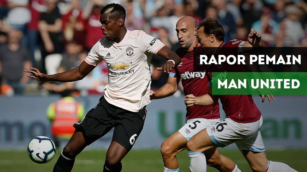 Rapor Pemain Manchester United Saat Takluk Dari West Ham