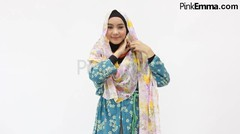 Tutorial Hijab Drapery Floral Syar'i