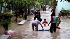 Ribuan rumah di Kabupaten Cirebon masih terendam banjir