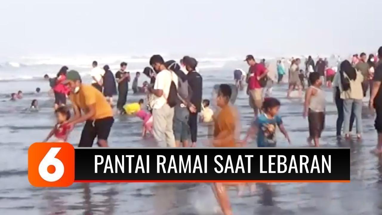 Hari Terakhir Liburan, Kawasan Pantai Masih Dipadati Wisatawan   Liputan 15