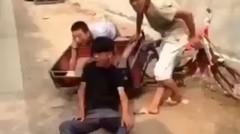 Video Lucu Jatuh dari Motor Unik