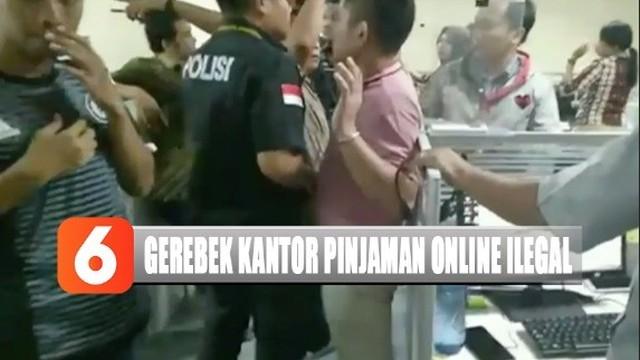 Detik Detik Polrestro Jakarta Utara Gerebek Kantor Pinjaman Online